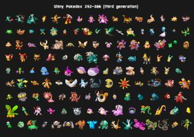 Third generation shiny pokedex by Lendsei