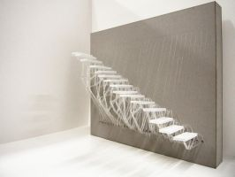 Floating Staircase Prototype by Ah-Da