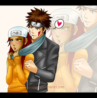 Request: Kiba x Karui by terrasalamander