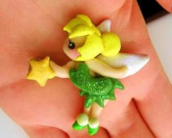 Tinkerbell hair clip commission by mayumi-loves-sora