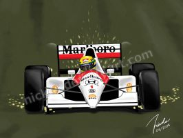 Ayrton Senna by Nickcs