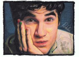 Darren Criss - Oil Pastels by NataliesCourageClub