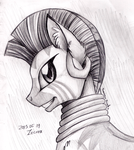 Pencil Portrait - Zecora by InuHoshi-to-DarkPen