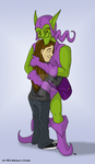 Green Goblin Love - Commish by TwinTwosGirl