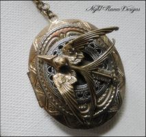 Hunger Games Locket by TheClockworkCrow