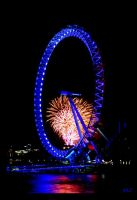 London Wheel - Fireworks by ahmedwkhan