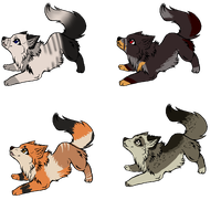 adoptable set 3 CLOSED by chepiis-pointadopts