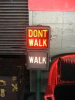 Walk, Don't Walk sign by SerendipityStock