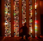 Lite-Brite Matrix Stained Glass Tile Columns 9 by Windthin
