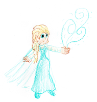 -Elsa- Crayon Style by Idellechi