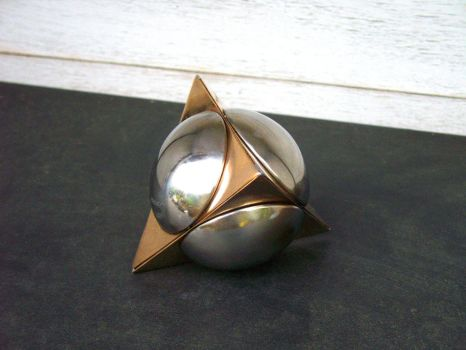 Sphere Tetrahedron Intersected #2 by ou8nrtist2
