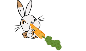 Maple bunny eating a carrot MLP by superskylar4