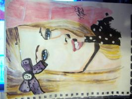 Avril Lavigne painting by blinketyblink