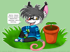 Zack and The Plant by MeckelFoxStudio