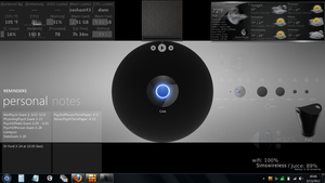Rainmeter Desktop2012 by Bacanalia73