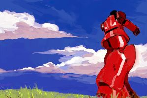 Red robot by MehulSahai