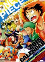 One piece official calendar 2015 by CandyDFighter