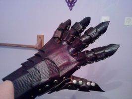 leather gauntlet by Choppsey