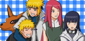 Hinata and Uzumaki Family by Graxile