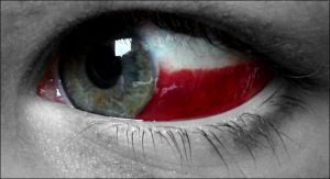 Polish flag in my eye by rockeet