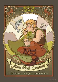 Fionn Mac Cumhaill - coloured page by Aurelie-S