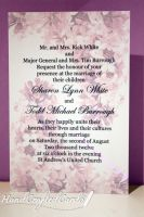 Light Purple Flowers Wedding Invitations by HandCraftedCards