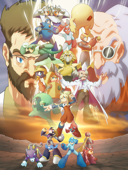 Megaman Tribute by MoonFX