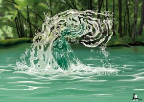 Water Elemental. by Altatoo