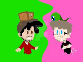 Jacksepticeye and Markiplier clothes swap XD by ReddSpaven