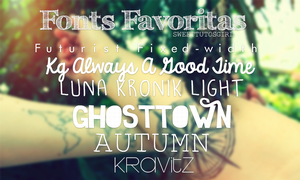 Fonts Favoritas by SweetTutosGirl