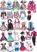 SOLD- Sailor Moon outfits by Guppie-Adopts