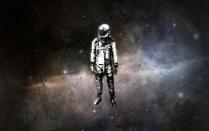 astronaut in space by thedaemon