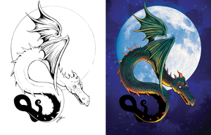 Dragon Side-by-Side by SarahPerryman