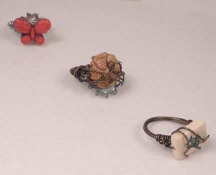 Three Steampunk Rings by hillarybewilson