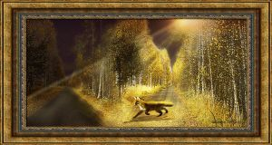 Fox is at a crossroads by Luba-Lubov-13