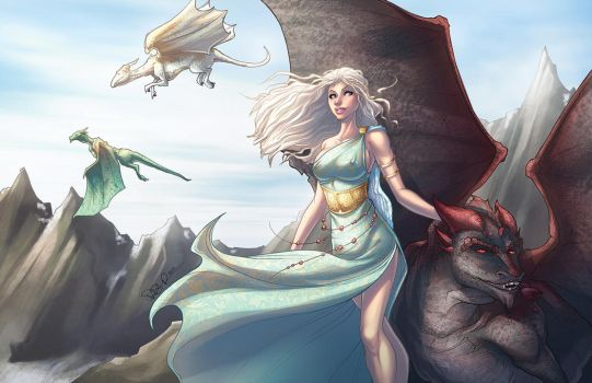 Daenerys - Mother of Dragons by DStPierre