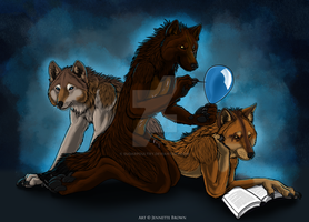 Remus, Max and Kobe by sugarpoultry