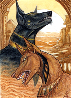 ACEO - One Will Rise, One Will Fall by Endlen