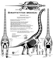 Giraffatitan brancai UNCENSORED! by Paleo-King