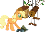 Applejack versus the Timberwolf by V0JELLY
