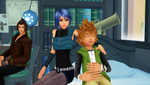 Terra and Aqua take care of Ventus with Friends by 9029561