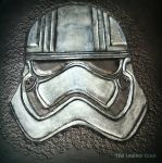 Captain Phasma Leather Tablet Cover  by CoreyChiev