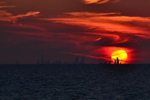 Windy City Sunset II 7-31-12 by the-railblazer