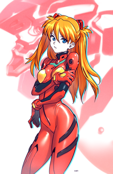 Asuka Timid by OptionalTypo