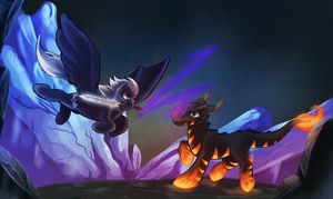 Commission: Friendly Battle by Seyllah