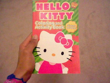Hello Kitty Colouring Book by xXCrimsonFallacyXx