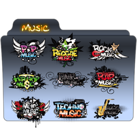 Music Folder Icon 5 by gterritory