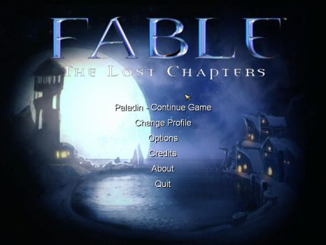Fable: The Lost Chapters (Main Menu) by DansNotPro