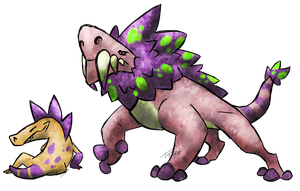 Gorgonopsid Fakemon by T-Reqs