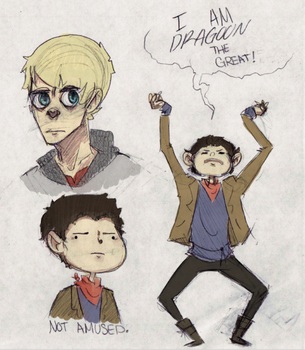 merlin doodles by cake-monster
